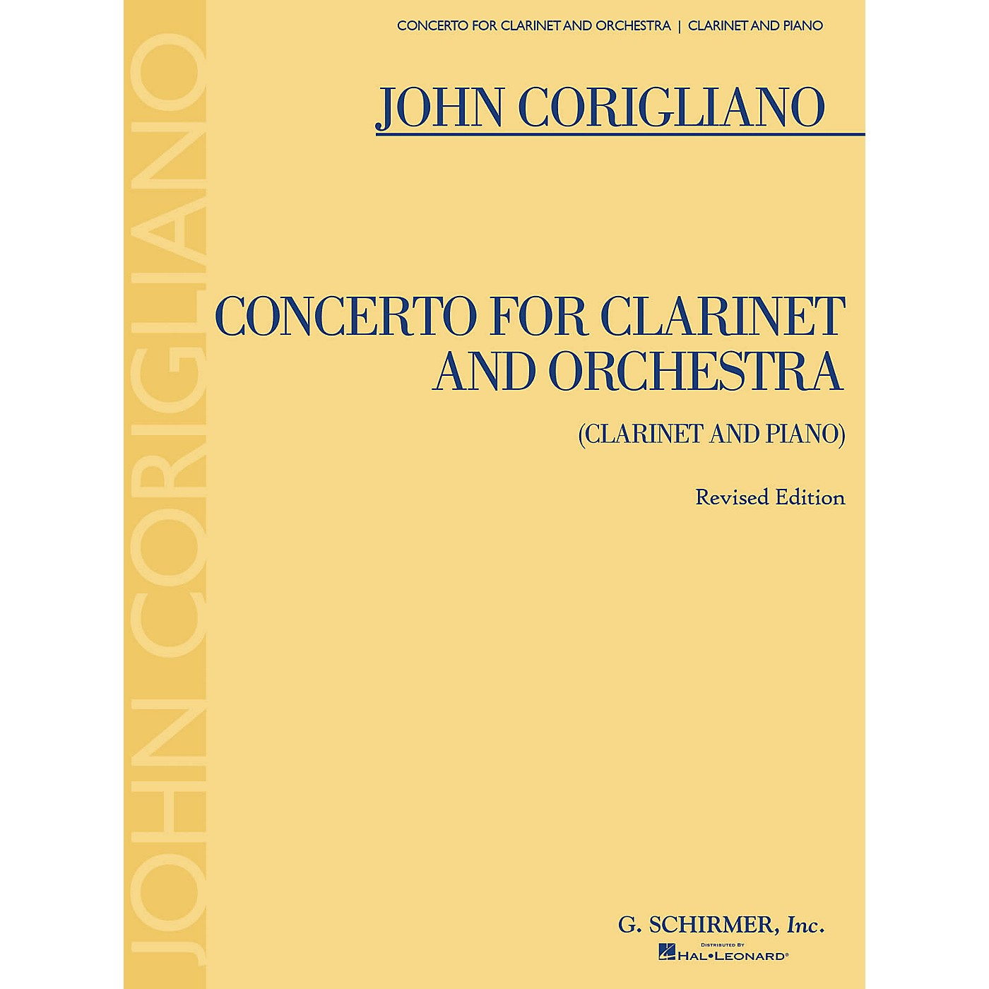 G. Schirmer Clarinet Concerto - Revised Edition Woodwind Series Softcover Composed by John Corigliano thumbnail