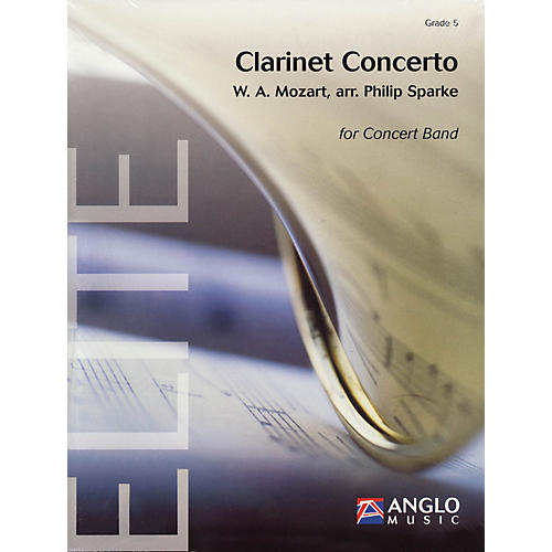 Anglo Music Press Clarinet Concerto (Grade 5 - Score Only) Concert Band Level 5 Arranged by Philip Sparke thumbnail