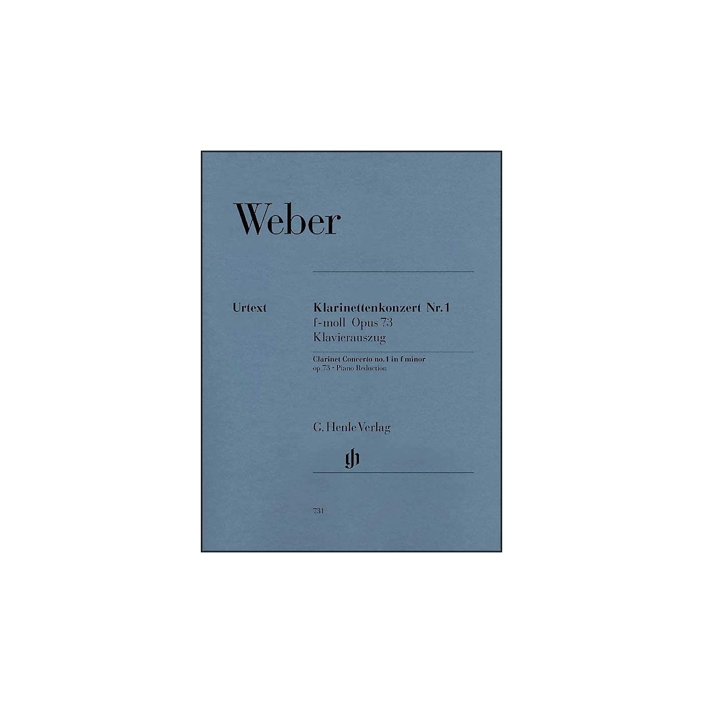 G. Henle Verlag Clarinet Concerto No. 1 in F minor, Op. 73 By Weber thumbnail
