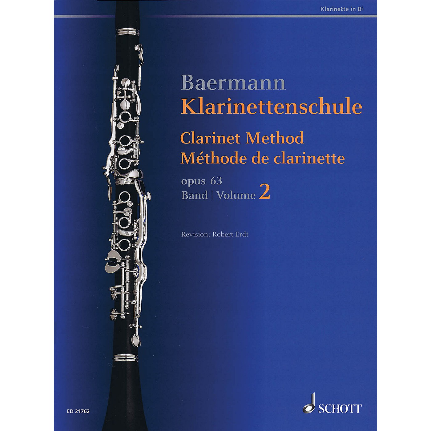 Schott Clarinet Method, Op. 63 (Volume 2, Nos. 34-52 - Revised Edition) Woodwind Method Series Softcover thumbnail