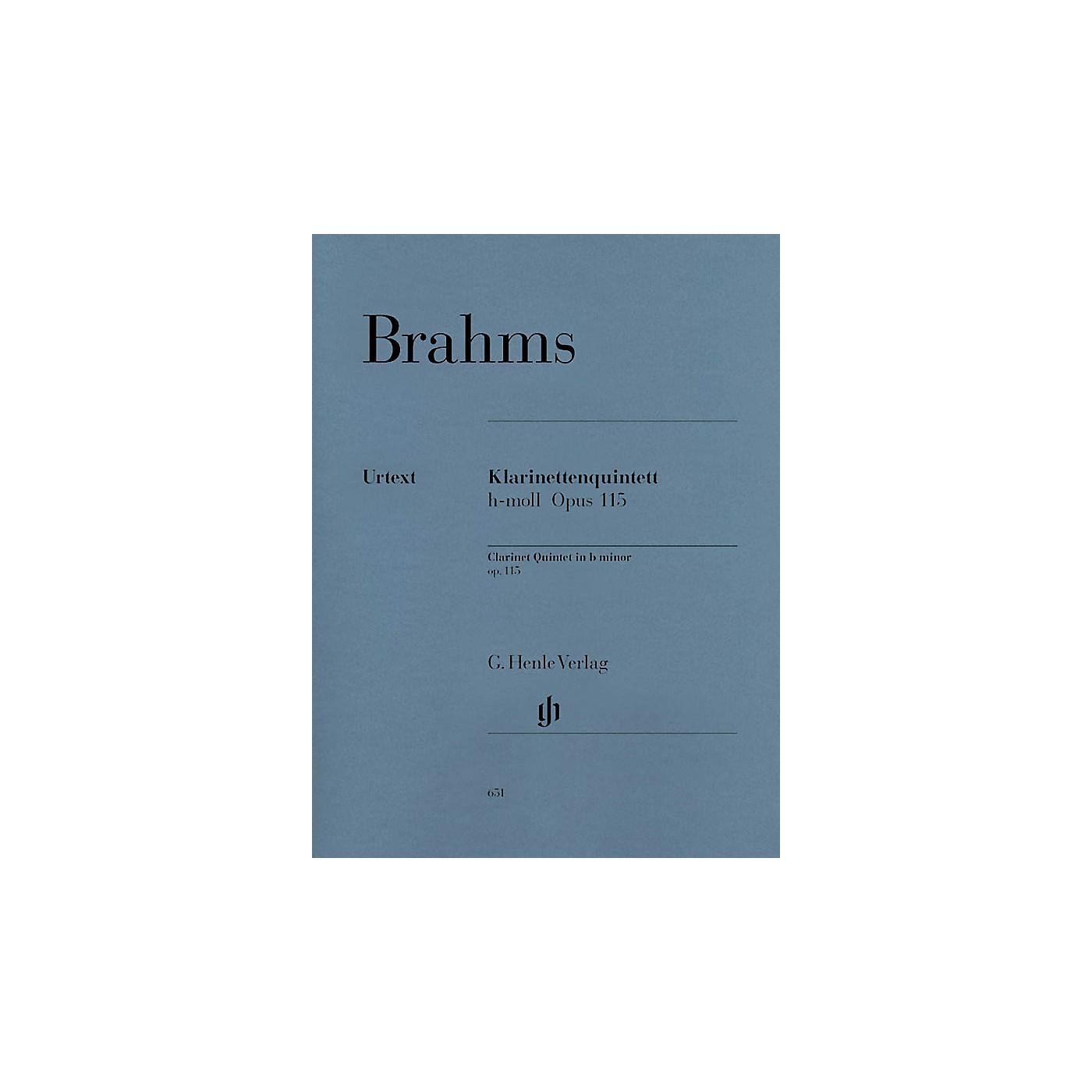 G. Henle Verlag Clarinet Quintet B minor Op. 115 Henle Music Folios Series Softcover by Johannes Brahms thumbnail