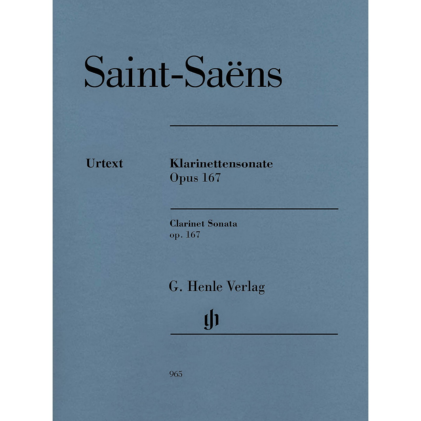 G. Henle Verlag Clarinet Sonata, Op. 167 Henle Music Folios Softcover Composed by Saint-Saens Edited by Peter Jost thumbnail