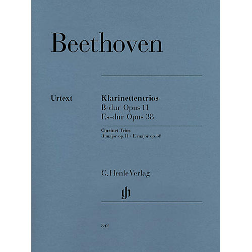 G. Henle Verlag Clarinet Trios B Flat Major Op. 11 and E Flat Major Op. 38 Henle Music by Ludwig van Beethoven thumbnail