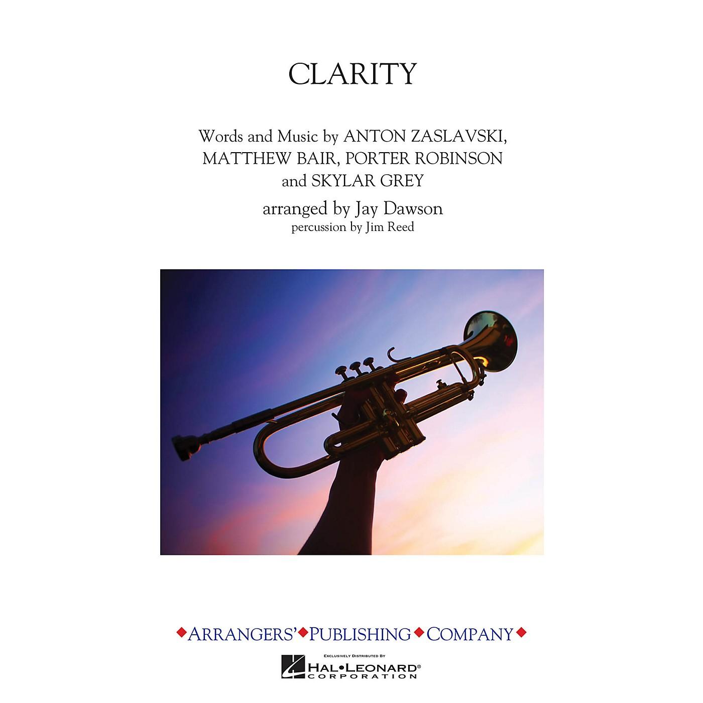 Arrangers Clarity Marching Band Level 3 by Zedd Arranged by Jay Dawson thumbnail