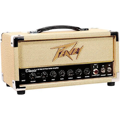Peavey Classic 20 Micro 20W Tube Guitar Amp Head with 2x12 Guitar Speaker Cabinet thumbnail