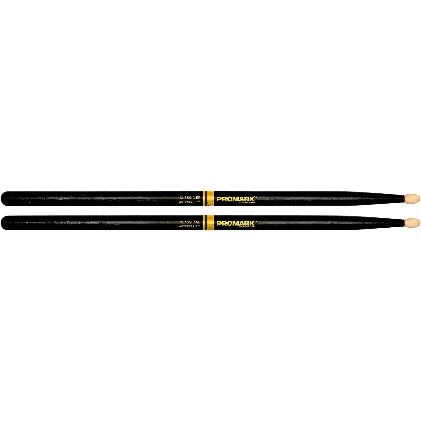 Promark Classic ActiveGrip Drumsticks, Black thumbnail