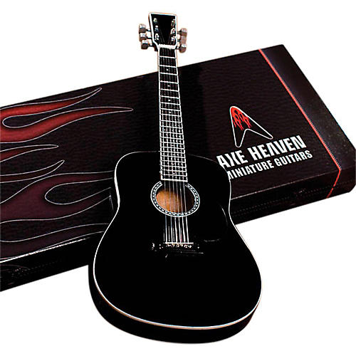 Axe Heaven Classic Black Finish Acoustic Miniature Guitar Replica Collectible thumbnail
