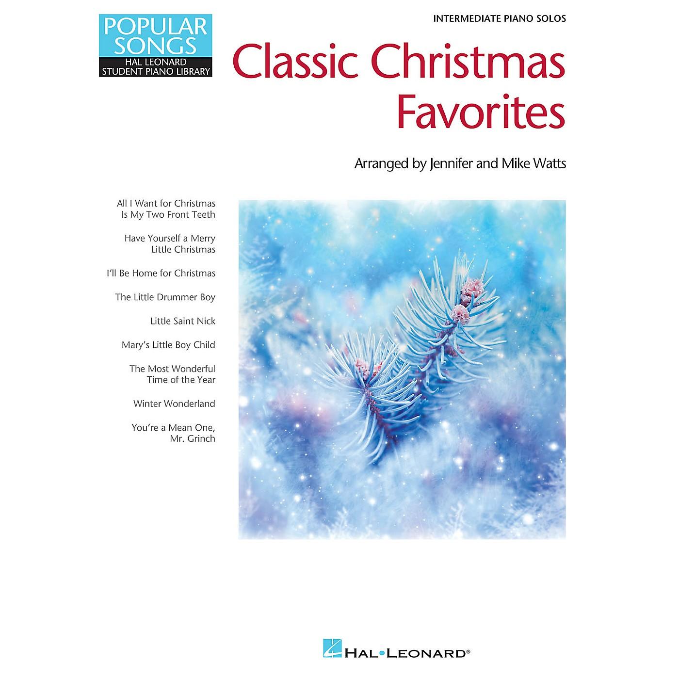 Hal Leonard Classic Christmas Favorites Piano Library Series Book (Level Inter) thumbnail