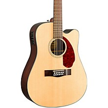 Fender Classic Design Series CD-140SCE Mahogany Cutaway Dreadnought 12-String Acoustic-Electric Guitar