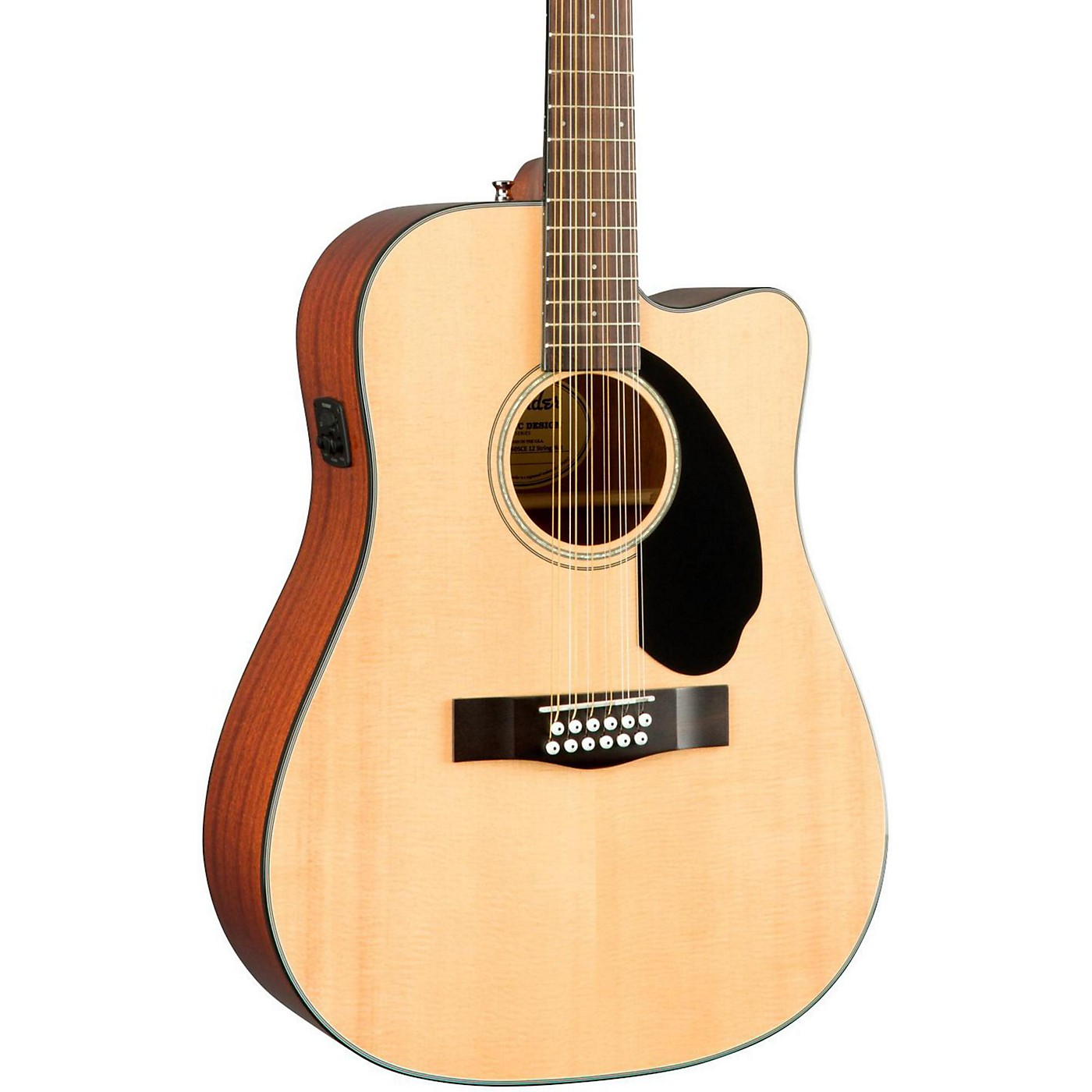 Fender Classic Design Series CD-60SCE-12 Cutaway Dreadnought 12-String Acoustic-Electric Guitar thumbnail