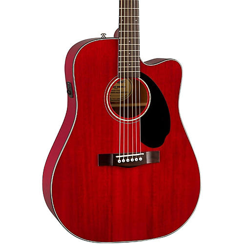 Fender Classic Design Series CD-60SCE All-Mahogany Cutaway Dreadnought Acoustic-Electric Guitar thumbnail