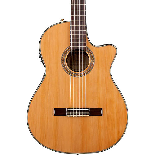 Fender Classic Design Series CN-240SCE Cutaway Thinline Classical Acoustic-Electric Guitar thumbnail