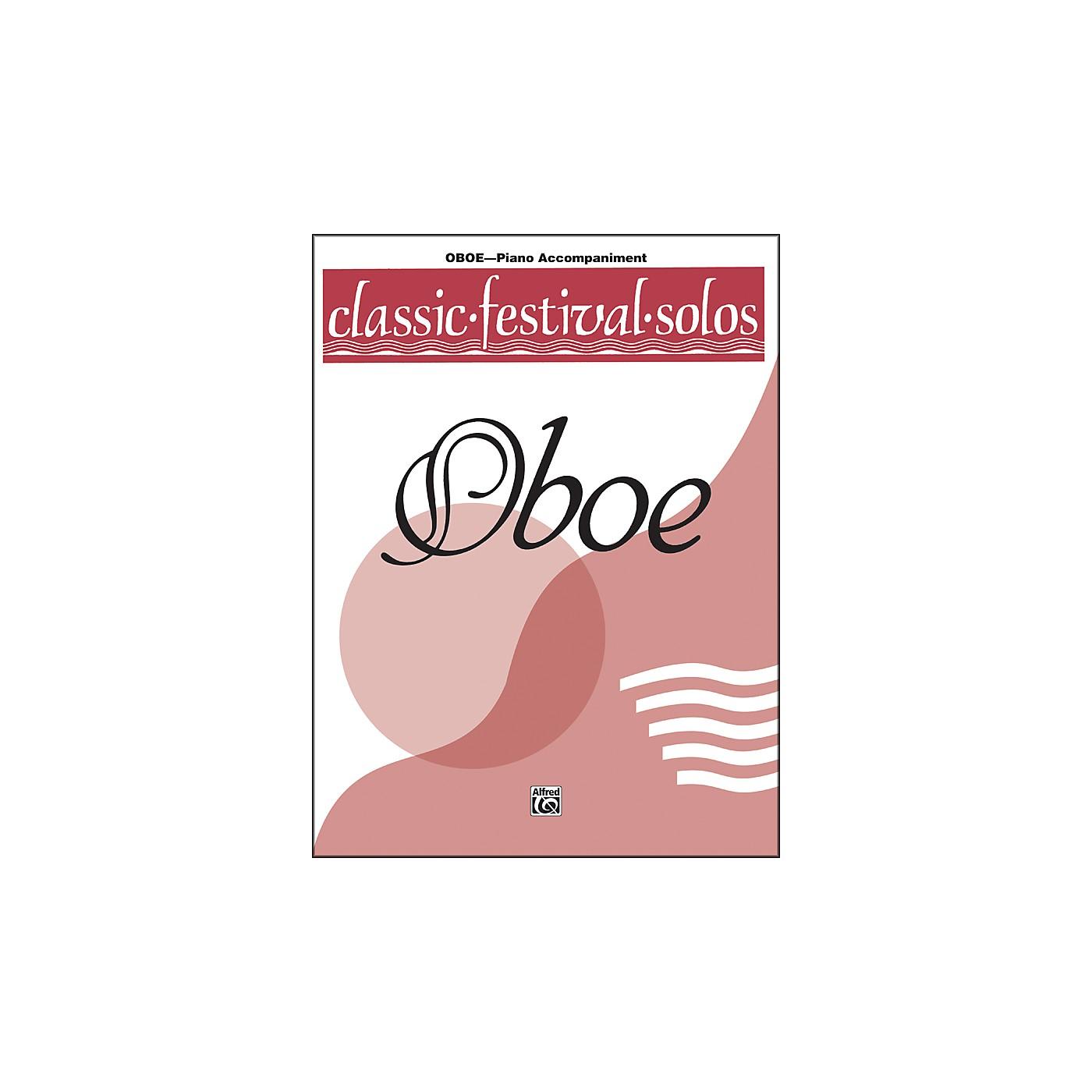 Alfred Classic Festival Solos (Oboe) Volume 1 Piano Acc. thumbnail