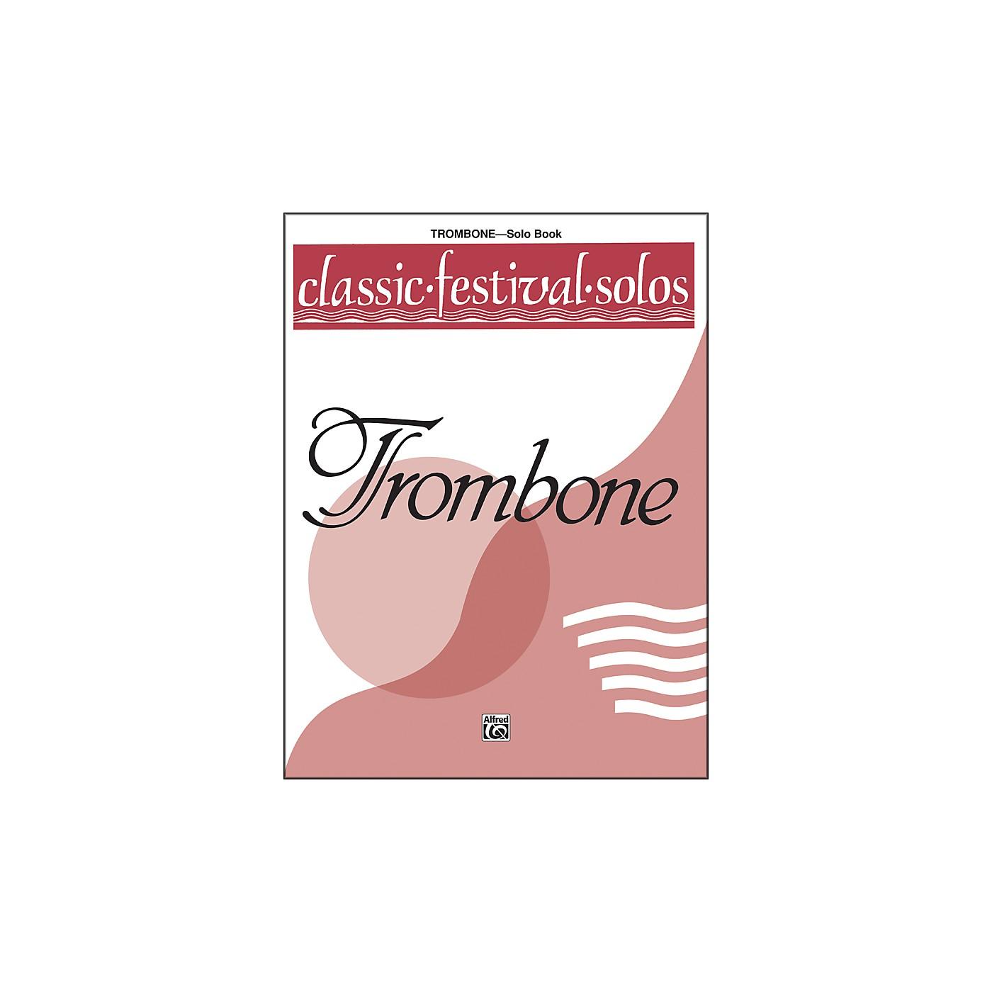 Alfred Classic Festival Solos (Trombone) Volume 1 Solo Book thumbnail