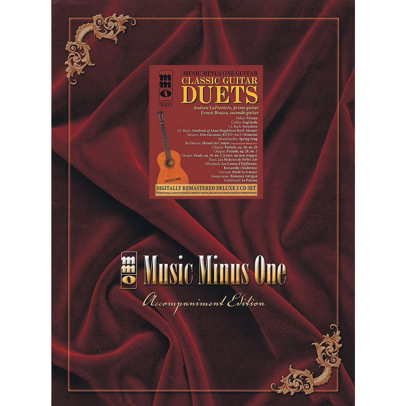 Music Minus One Classic Guitar Duets (Deluxe 2-CD Set) Music Minus One Series Softcover with CD thumbnail