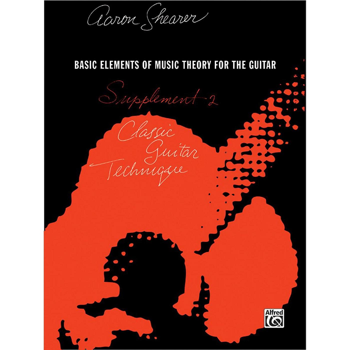 Alfred Classic Guitar Technique Supplement 2 Book thumbnail