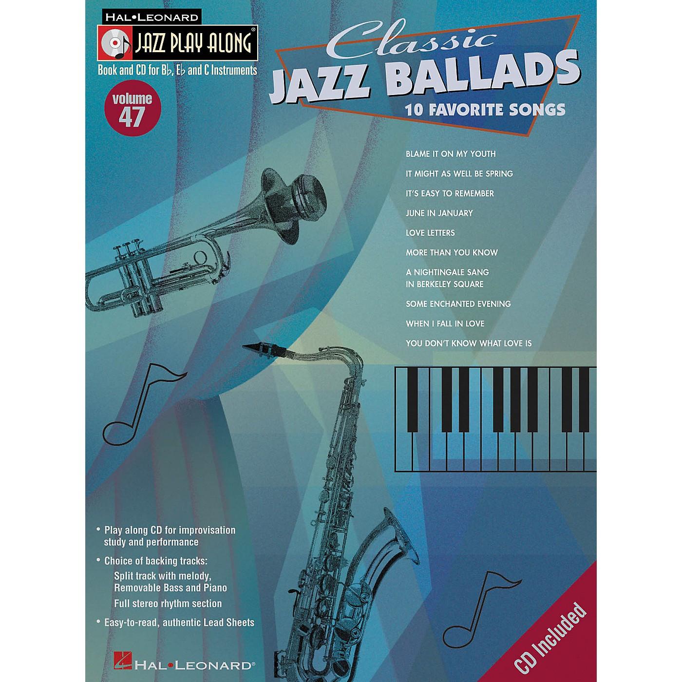 Hal Leonard Classic Jazz Ballads--Jazz Play Along Volume 47 Book with CD thumbnail
