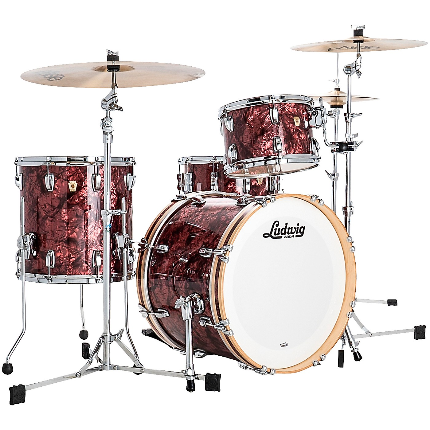 Ludwig Classic Maple 3 Piece Downbeat Shell Pack with 20 in. Bass Drum thumbnail