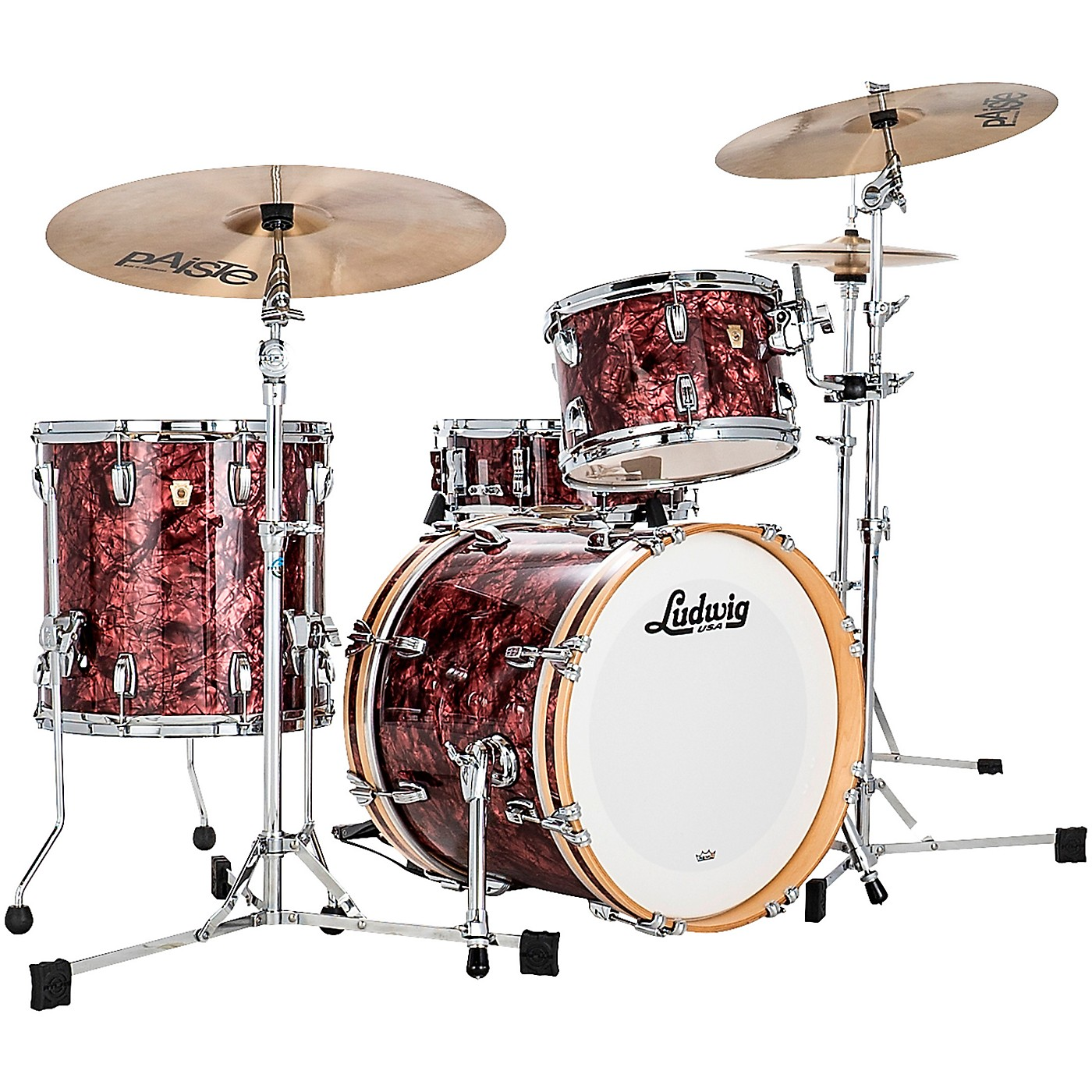 Ludwig Classic Maple 3 Piece Jazzette Shell Pack with 18 in. Bass Drum thumbnail