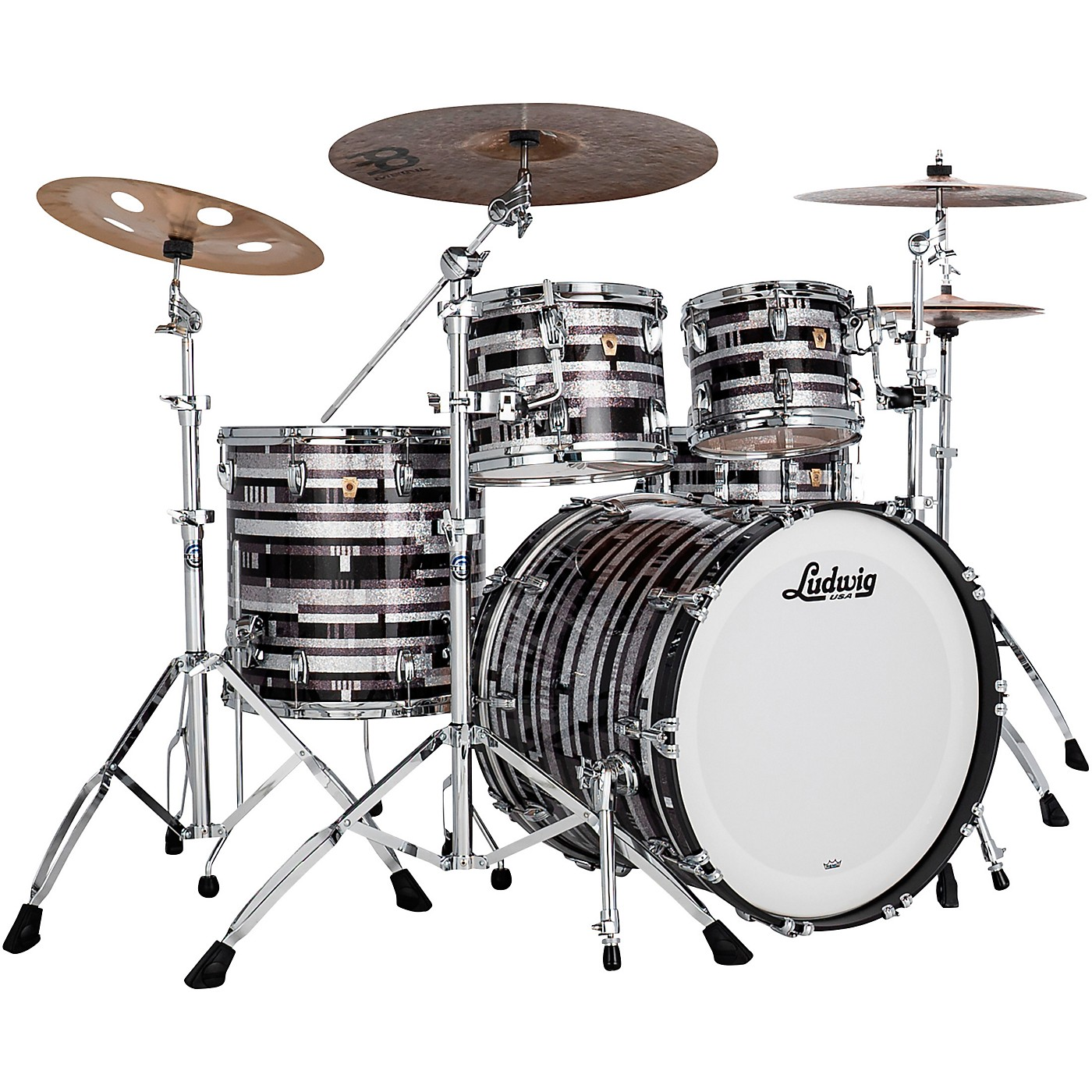Ludwig Classic Maple 4-Piece Mod Shell Pack with 22 in. Bass Drum thumbnail