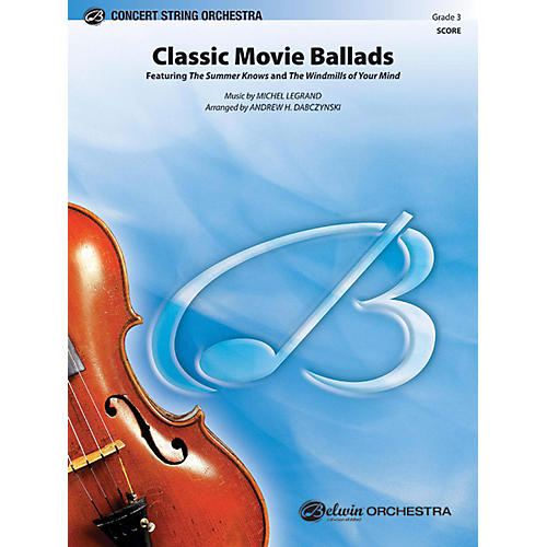 Alfred Classic Movie Ballads String Orchestra Grade 3 thumbnail
