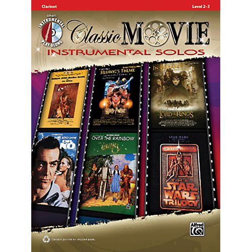 Alfred Classic Movie Instrumental Solos Clarinet Play Along Book/CD thumbnail