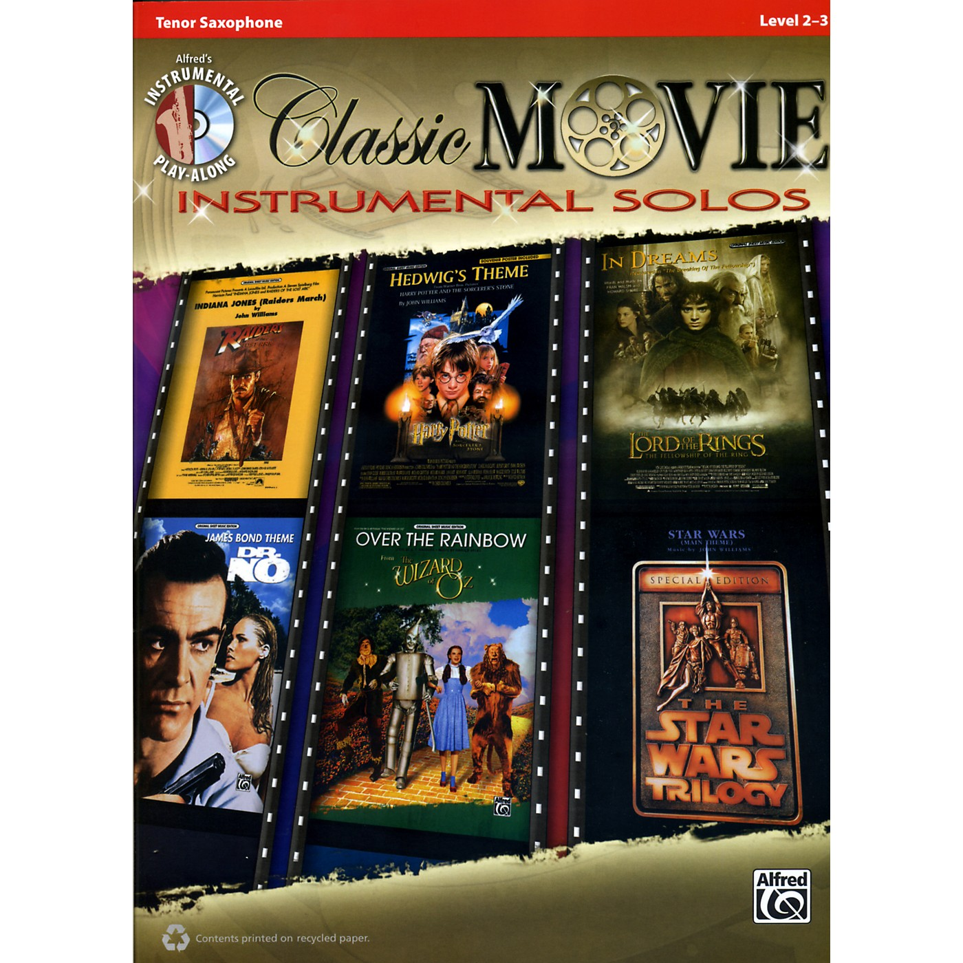 Alfred Classic Movie Instrumental Solos Tenor Sax Play Along Book/CD thumbnail