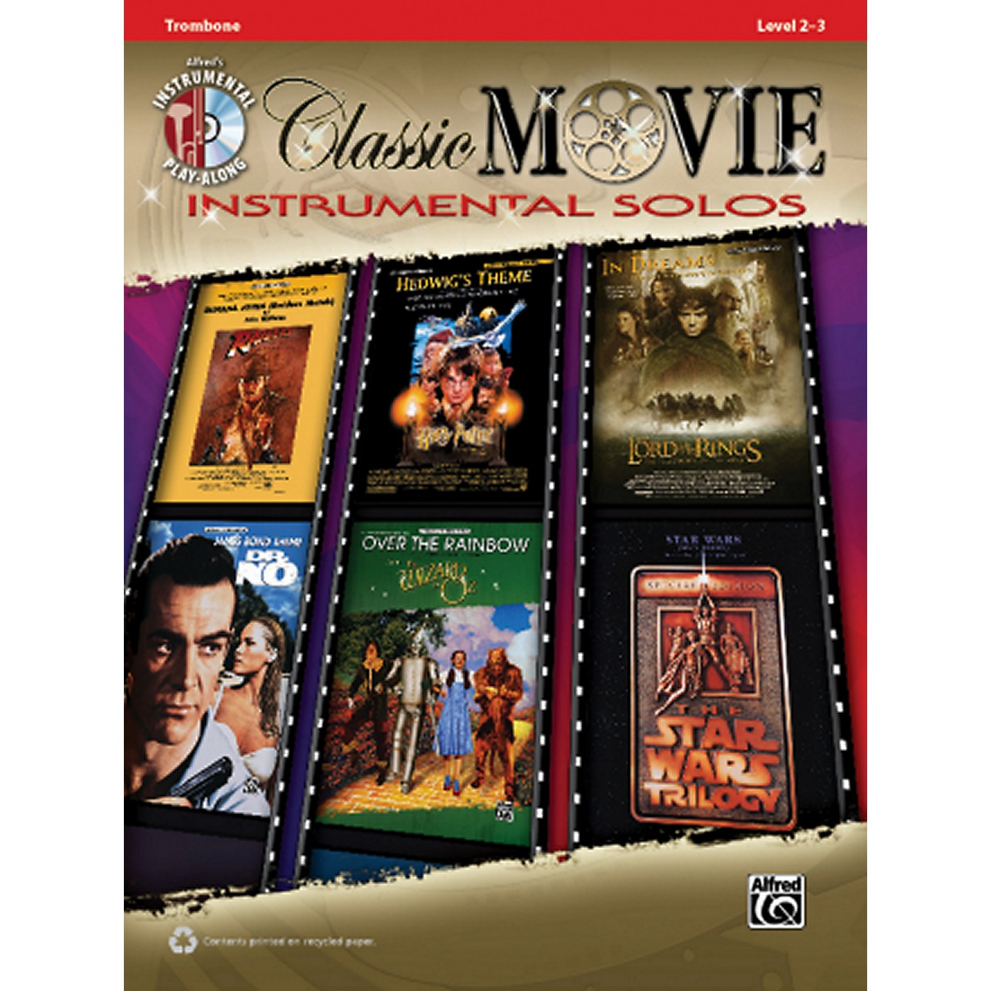 Alfred Classic Movie Instrumental Solos Trombone Play Along Book/CD thumbnail