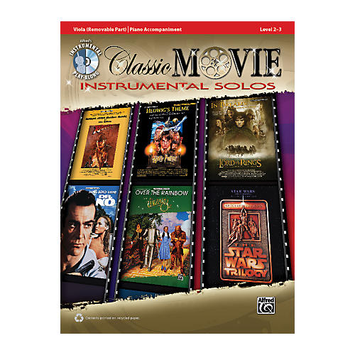 Alfred Classic Movie Instrumental Solos for Strings Viola Play Along Book/CD thumbnail