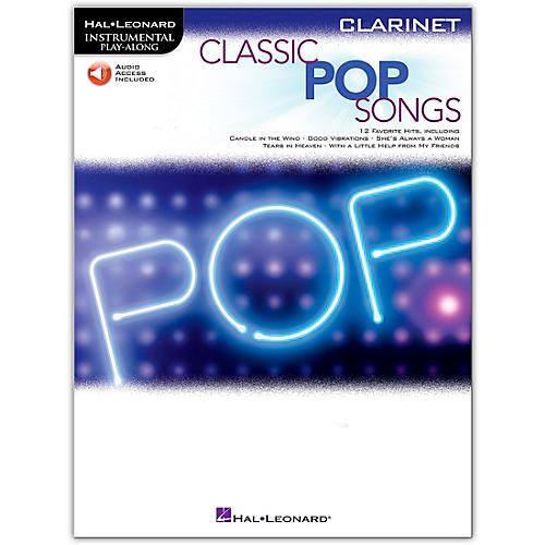 Hal Leonard Classic Pop Songs For Clarinet - Instrumental Play Along Book/Audio Online thumbnail