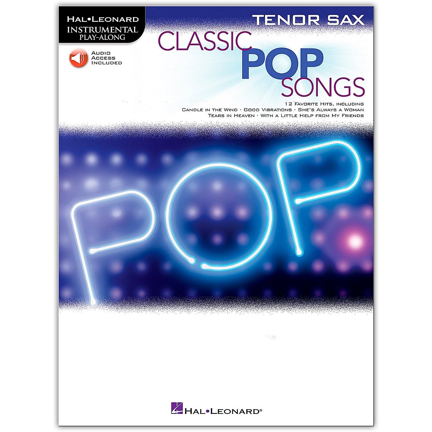 Hal Leonard Classic Pop Songs For Tenor Sax - Instrumental Play-Along Book/Audio Online thumbnail