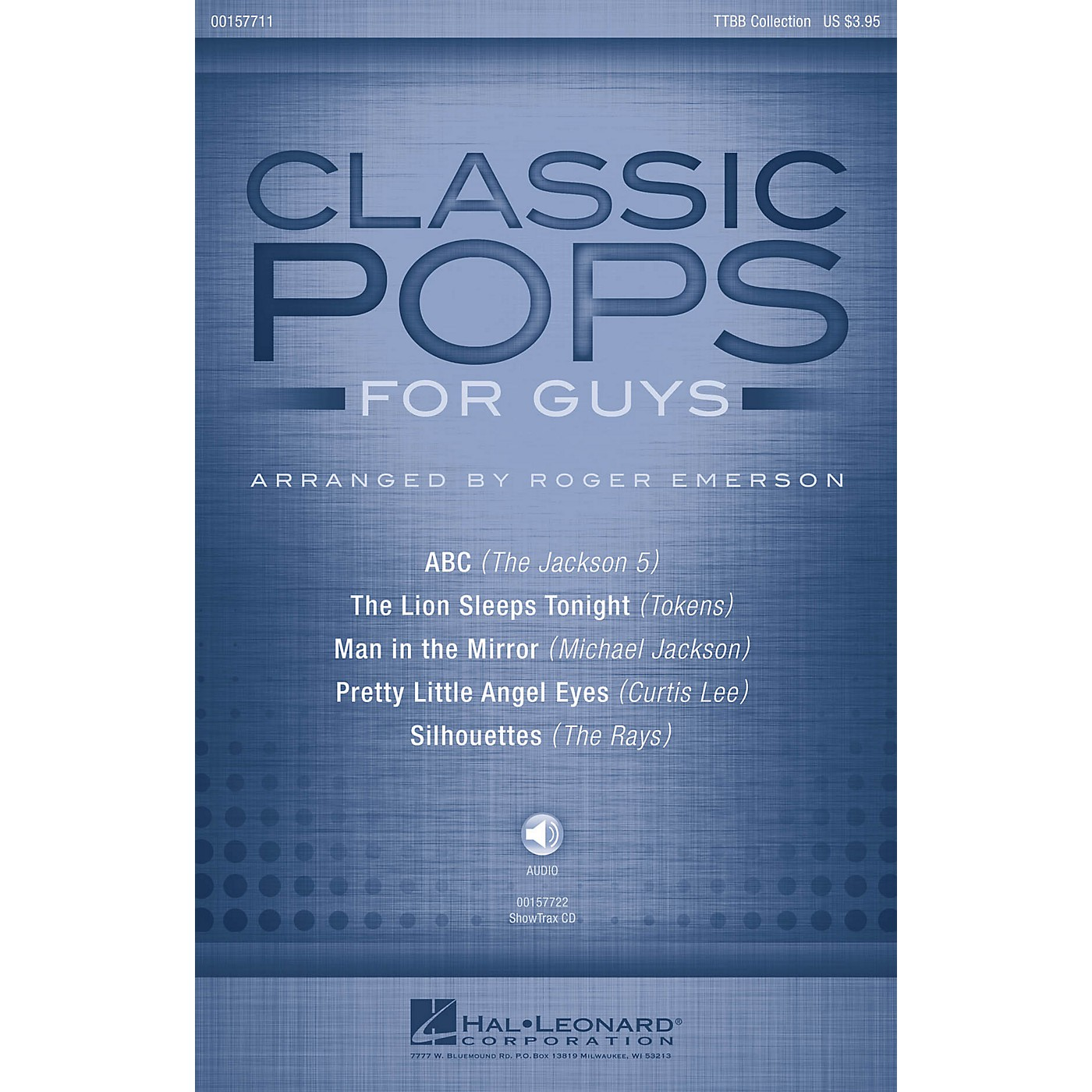 Hal Leonard Classic Pops for Guys (Collection) ShowTrax CD Arranged by Roger Emerson thumbnail