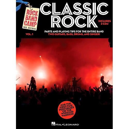 Hal Leonard Classic Rock - Rock Band Camp Vol. 1 (Book/2-CD Pack) Vocal, 2 Guitars, Bass, Drums thumbnail