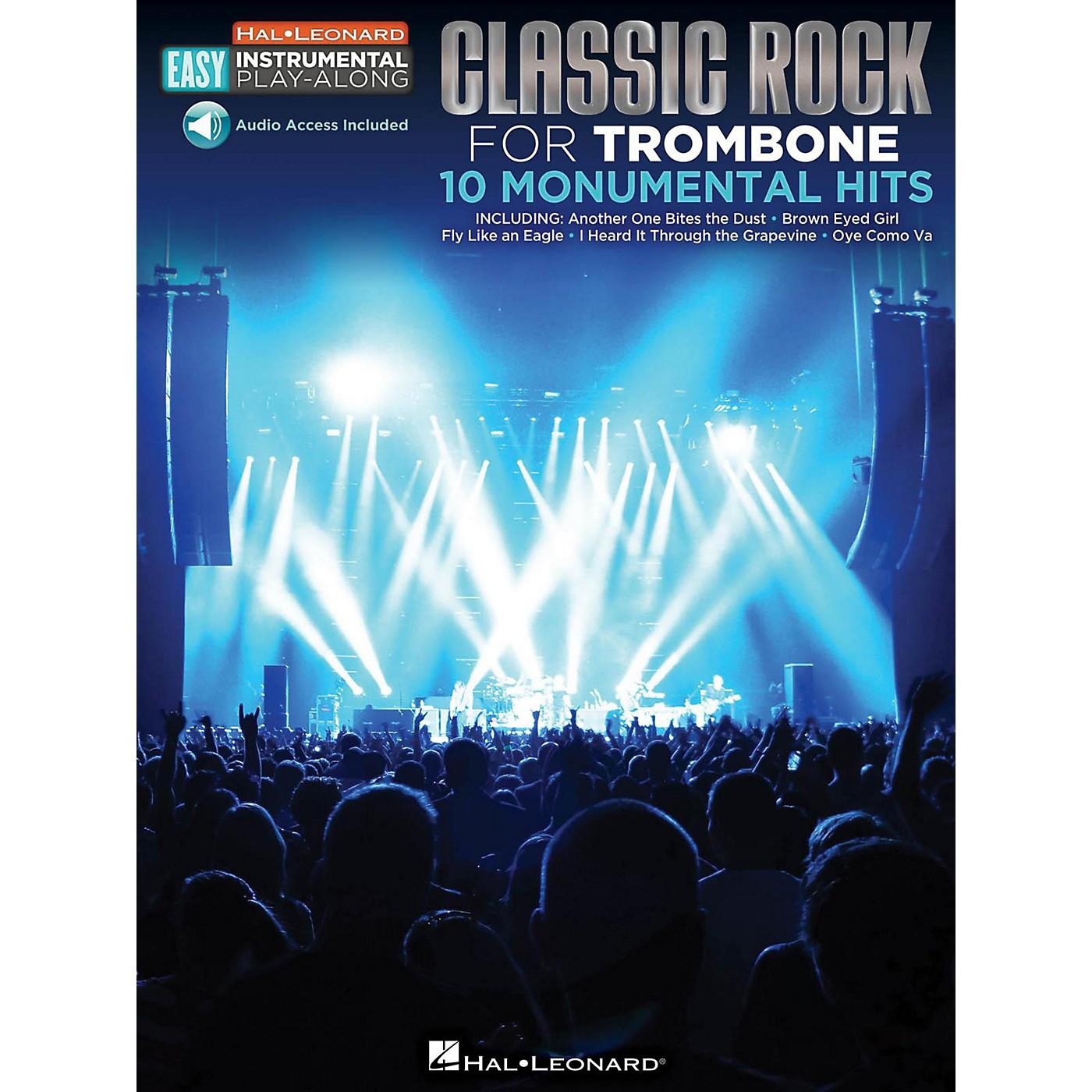 Hal Leonard Classic Rock - Trombone - Easy Instrumental Play-Along Book with Online Audio Tracks thumbnail