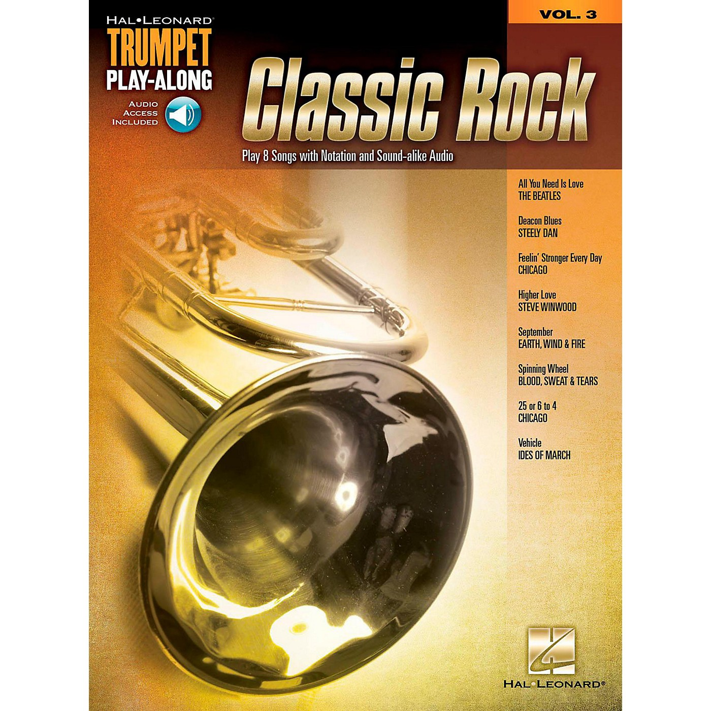 Hal Leonard Classic Rock - Trumpet Play-Along Volume 3 Book/Audio Online thumbnail