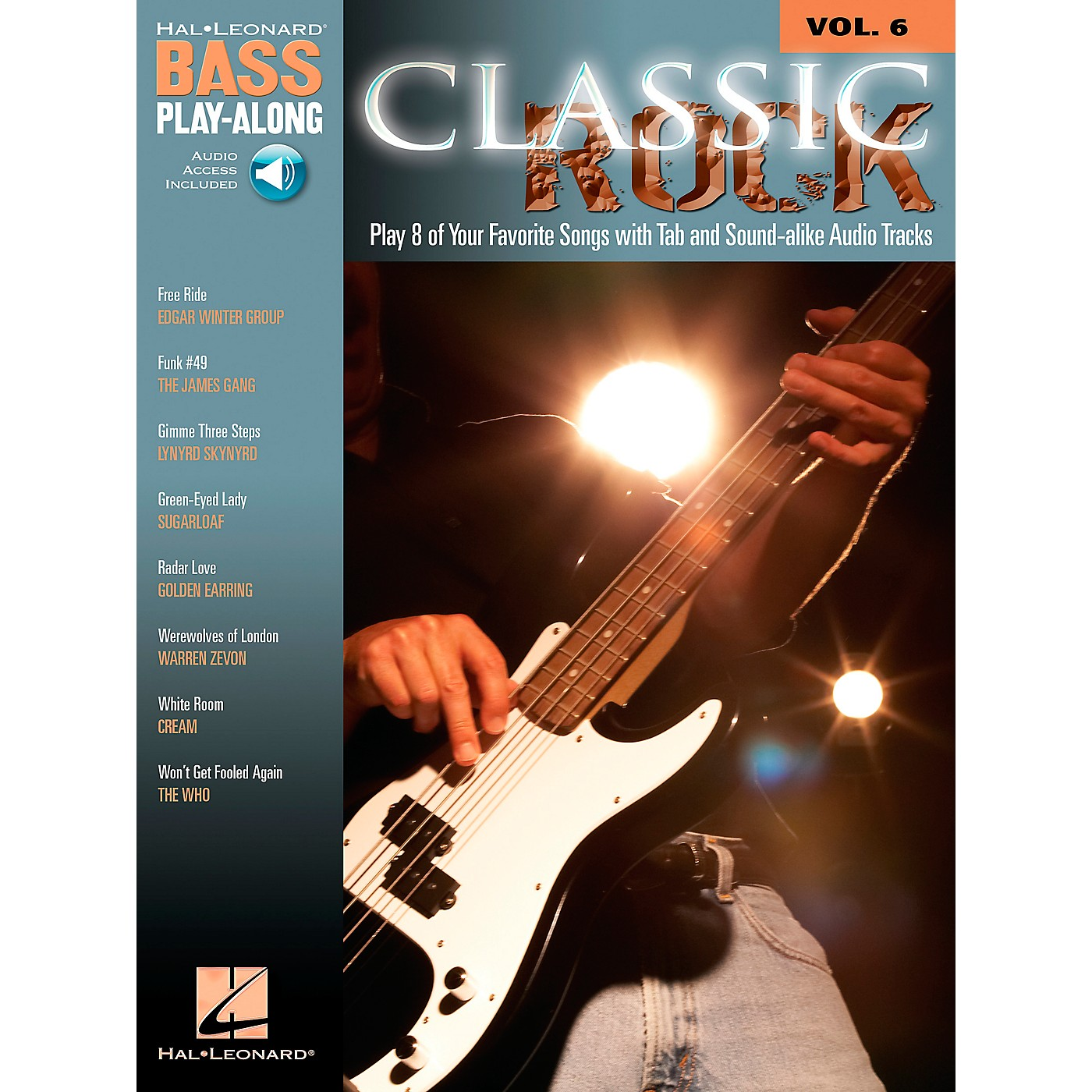 Hal Leonard Classic Rock Bass Guitar Play-Along Series Volume 6 Tab (Songbook/Online Audio) thumbnail