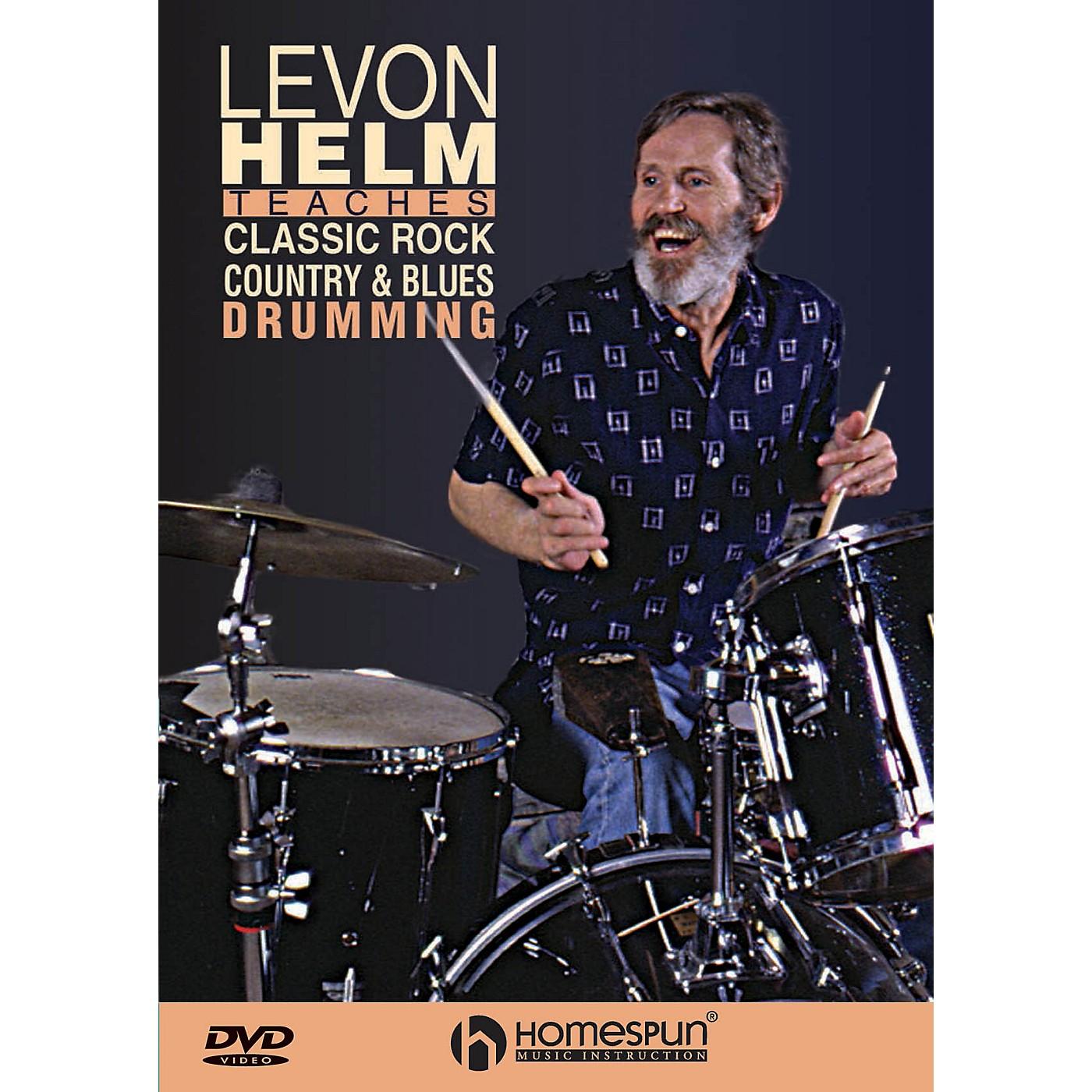 Homespun Classic Rock, Country & Blues Drumming Instructional/Drum/DVD Series DVD Written by Levon Helm thumbnail