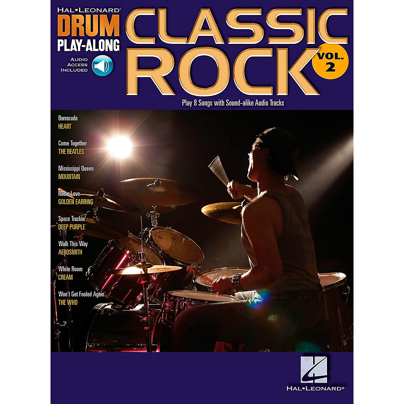 Hal Leonard Classic Rock Drum Play-Along Series Volume 2 Book with Online Audio thumbnail