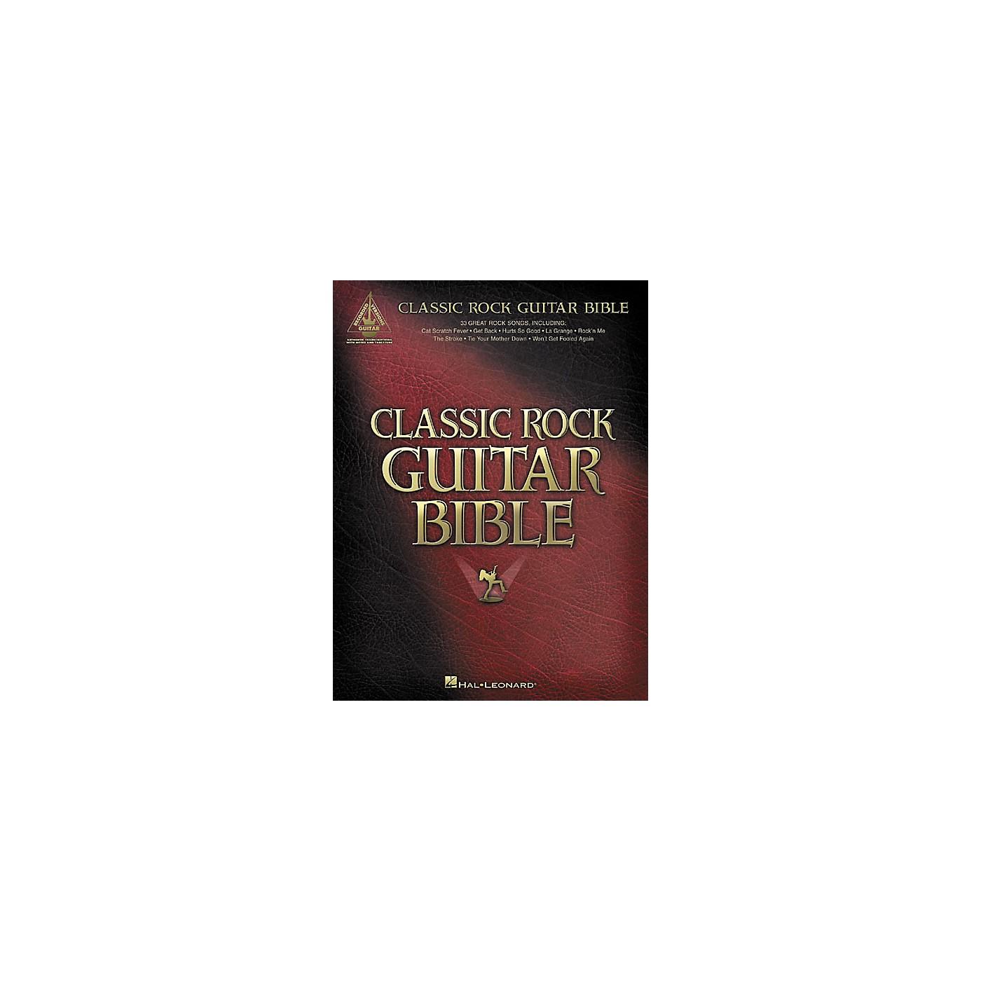 Hal Leonard Classic Rock Guitar Bible Tab Songbook thumbnail