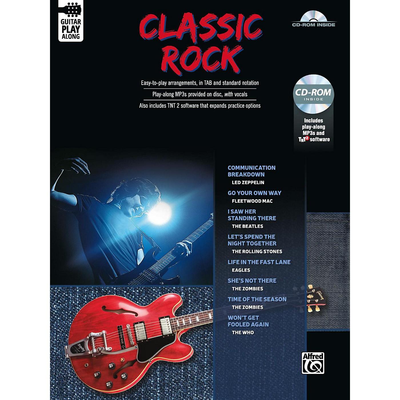 Alfred Classic Rock Guitar Play-Along Guitar TAB Book & CD-ROM Songbook thumbnail