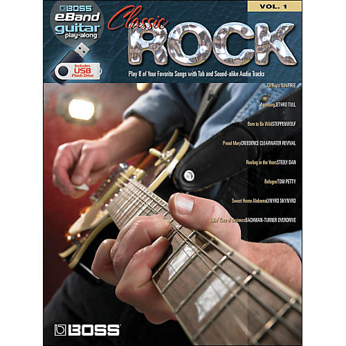 Hal Leonard Classic Rock Guitar Play-Along Volume 1 (Boss eBand Custom Book with USB Stick) thumbnail