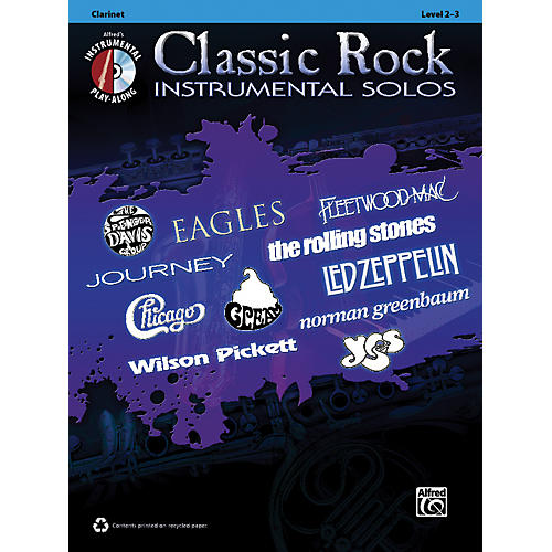 Alfred Classic Rock Instrumental Solos Clarinet Book & CD thumbnail