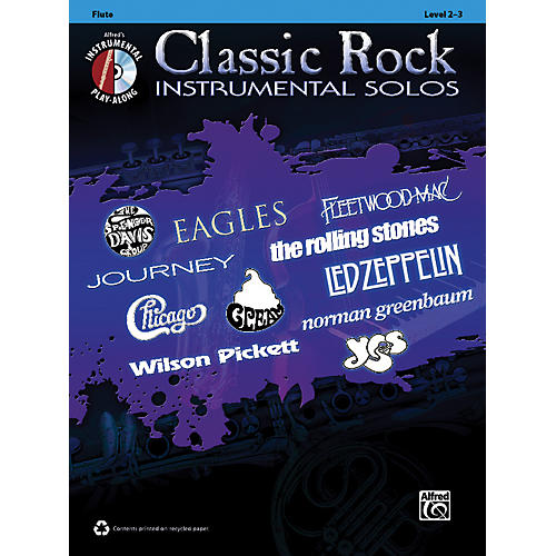 Alfred Classic Rock Instrumental Solos Flute Book & CD thumbnail