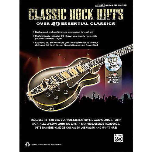 Alfred Classic Rock Riffs Guitar Book & CD thumbnail