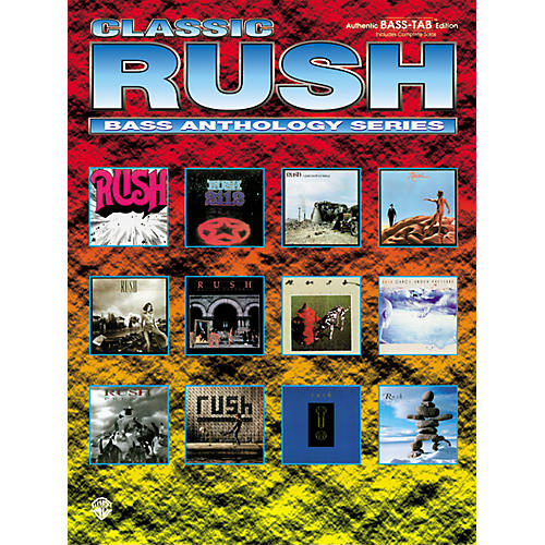 Alfred Classic Rush Anthology Series Bass Tab Book thumbnail