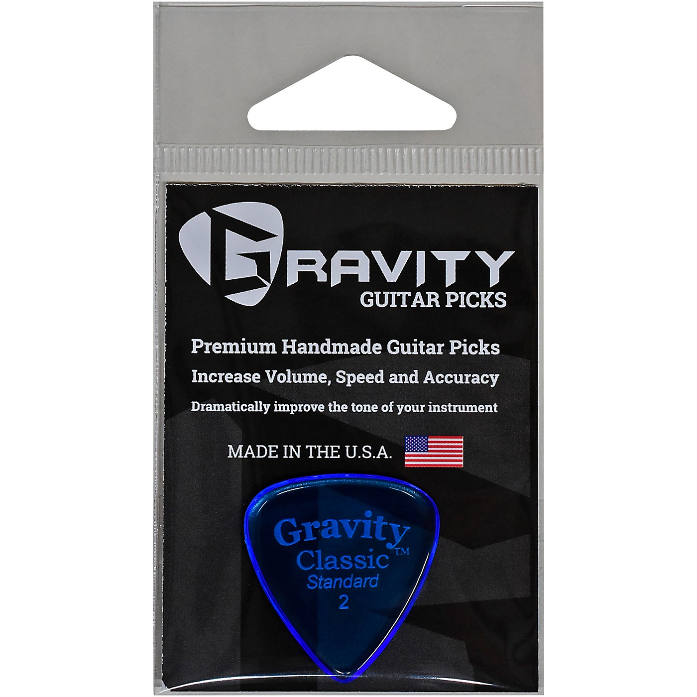 GRAVITY PICKS Classic Standard Polished Blue thumbnail