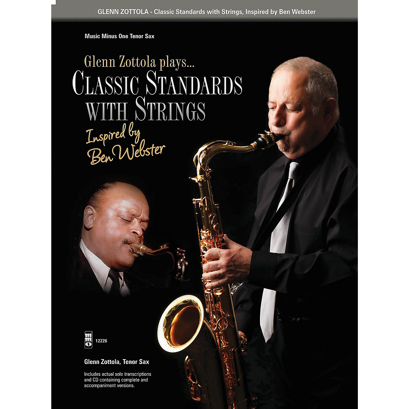 Music Minus One Classic Standards with Strings Music Minus One Series Book with CD Performed by Glenn Zottola thumbnail