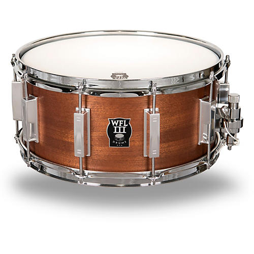 WFLIII Drums Classic Wood Mahogany Snare Drum with Chrome Hardware thumbnail