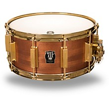 WFL Classic Wood Mahogany Snare Drum with Gold Hardware