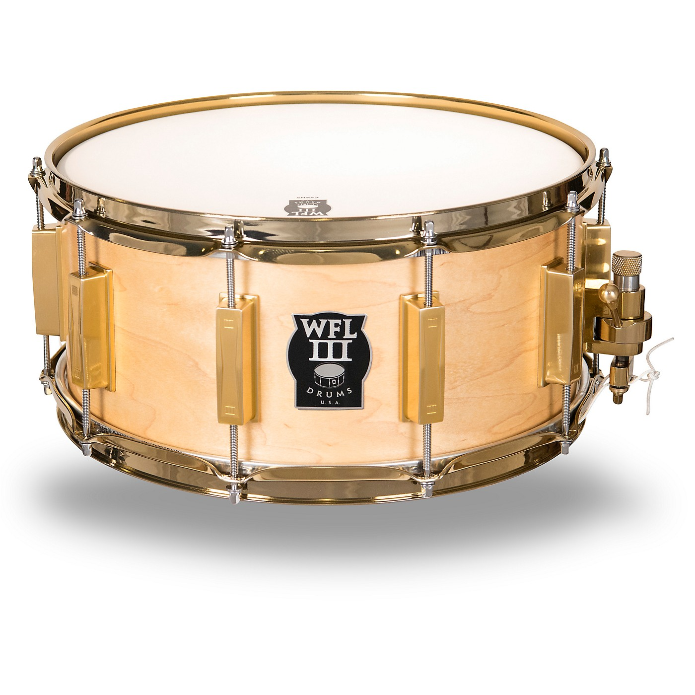 WFLIII Drums Classic Wood Maple Snare Drum with Gold Hardware thumbnail